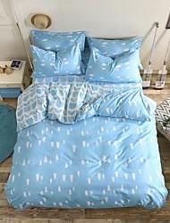 mingjie® Hursts azuis e deixa rainha e twin tamanho cama 4pcs conjuntos lixar para meninos e meninas roupa de cama china
