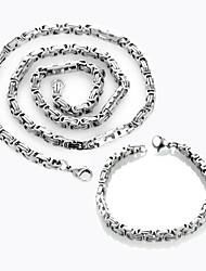 Hochzeit/Party/Alltag/Normal/Sport/N/A - Halsketten/Armband ( Edelstahl )