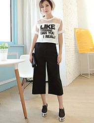 Women's Casual Micro-elastic Thin Loose Pants (Cotton Blends)