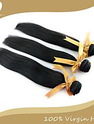Человека ткет Волосы Перуанские волосы Прямые 3 предмета волосы ткет
