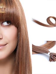 "22""inch Flat Tip Eurasian Virgin Hair Straight Human Hair Color #10"