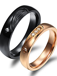 Heart Titanium Steel Ring Couple Rings Wedding/Party/Daily/Casual