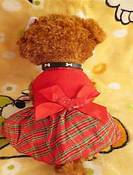 Cani Vestiti-Inverno A quadri-Rosso- diTerylene