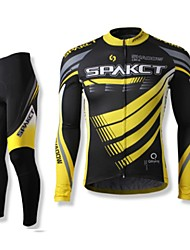SPAKCT Men's Long Sleeves Bike Clothing Suits Quick Dry Wearable Breathable 100% Polyester Spring Fall/Autumn Cycling/Bike