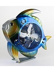 pintado himalayan decorativa fan de pescado 3d hierro esculpido a mano