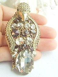 Women Accessories Gold-tone Topaz Rhinestone Crystal Brooch Art Deco Penguin Brooch Scarf Pin Women Jewelry