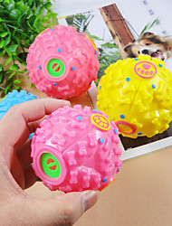 Cat / Dog Pet Toys Ball Squeak / Squeaking Pink / Yellow Rubber