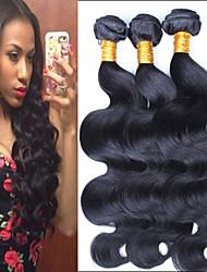"3 Pcs/Lot 8""-24"" Brazilian Virgin Hair Natural Black Body Wave Raw Unprocessed Human Hair Extensions Bundles"