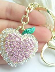 casal chaveiro coração amor anéis bolsas pingente com cristais de strass
