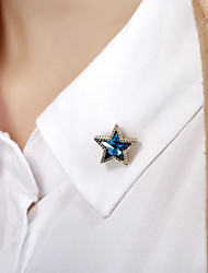 Inlay Gem Star Brooch (1Pair)
