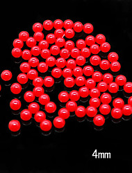 CandyPearl4mm 100pcs/lot Factory Direct Red Color 4mm Round Candy Pearls Beads for Nail Art Decoration/Jewelry