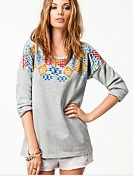 Women's T-Shirts , Cotton Casual Long Sleeve YLX