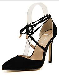 Women's Shoes Stiletto Heel Heels Pumps/Heels Office & Career/Dress/Casual Black
