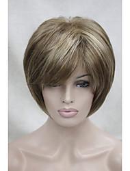 nouvelle brun clair avec le point culminant blonde perruque synthétique de trois courtes femmes hétérosexuelles