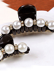 Fashion Pearl Rhinestone Wild Mother and Daughter Hair Claws