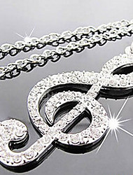 New Arrival Fashional Popular Delicate High Quality Rhinestone Note Necklace