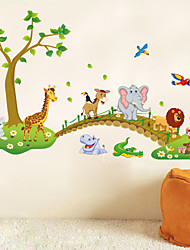 Forest Animal Cartoon Kindergarten Removable Wall Stickers For Kids Rooms Home Decor Diy Wallpaper Art Decals