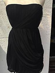 Vestidos ( Algodón Compuesto )- Casual Tiro Medio Sin Mangas para Mujer
