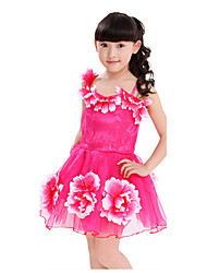 Girl's Summer Micro-elastic Thin Sleeveless Dresses (Chiffon/Lace/Mesh)