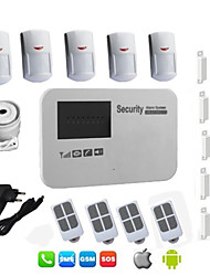 Android Burglar SIM Card Gsm Alarm System Wireless Wired For Home House Security