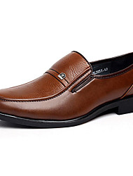 Men's Shoes Wedding/Office & Career/Party & Evening/Dress Leatherette Oxfords Brown