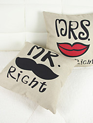 Happy Couples Cotton Pillowcases 2 Pieces