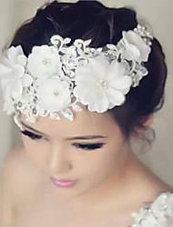 Women's Lace/Rhinestone Headpiece - Wedding/Special Occasion Flowers 1 Piece