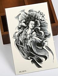 East Fairy Beauty Wisdom Tattoo Stickers Temporary Tattoos(1 pc)
