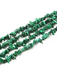 "Beadia Malachite Stone Beads 5-8mm Irregular Shape DIY Loose Beads Fit Necklace Bracelet Jewelry 34""/Str"