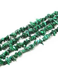 "Beadia Malachite Stone Beads 5-8mm Irregular Shape DIY Loose Beads Fit Necklace Bracelet Jewelry 34""/Str"