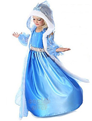 Girls Clothing 2015Frozen Elsa Dress Frozen Costume Robe Vestidos Party Dress