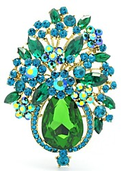 Women's Jewelry Rhinestone Drop Flower Brooch Broach Pins  (More Colors)