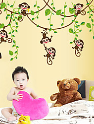 Wall Stickers Wall Decals,Cartoon Hip-hop Monkey PVC Wall Stickers