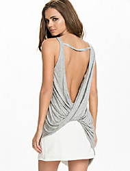 Women's Sexy Beach Casual Backless Vest Tank Top