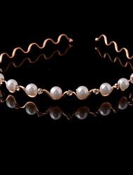 Women Alloy/Imitation Pearl Headbands With Imitation Pearl/Rhinestone Wedding/Party Headpiece