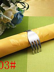 6pcs Stainless Steel Fork Napkin Ring