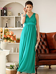 Women's Fashion Floor-length V-neck Bridesmaid Dress/ Party Dress