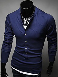Man's Single Breasted Slim Long Sleeve T-Shirt