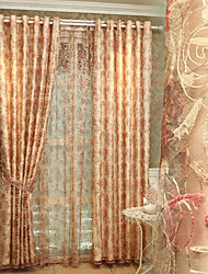 YIMI Ou Embroidery Curtain Finished Product Room Luxury Bedroom Window  Shading Cloth Custom Curtain Cloth One Panel