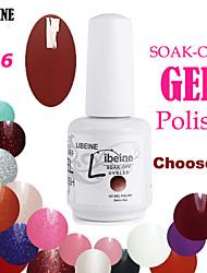 LIBEINE 3 pcs/lot 15 ML UV Color Gel Nail Polish No.066(Brown Red)