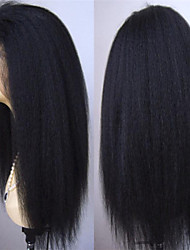 Unprocessed Virgin Brazilian Lace Front Wigs Lace Front  Human Hair Wigs 130% Density Kinky Straight lace wigs