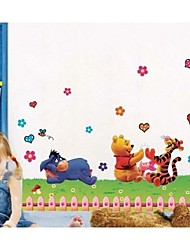 Winnle The Poooh With His Friend Wall Sticker For Kids Room Zooyoo992 Decorative Removable Pvc Wall Decal