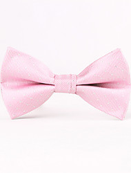 Pink Thread Silver Men Bow Ties