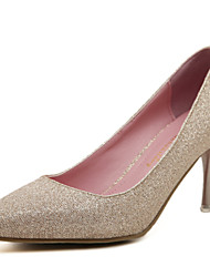Women's Shoes Glitter Stiletto Heel Heels/Pointed Toe/Closed Toe Heels Dress Black/Silver/Gold