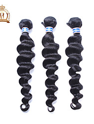 3Pcs/Lot 12-26 inch Unprocessed Malaysian Remy Virgin Hair Loose Wave Human Hair Weaves Loose Wave Hair Extensions