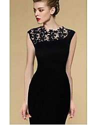 Women's Casual Round Sleeveless Dresses (Lace)