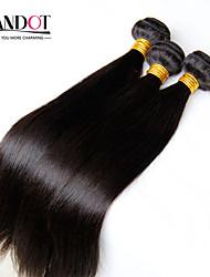 "3Pcs Lot 8""-28"" Mongolian Virgin Hair Straight Natural Black Human Hair Weave Bundles Shed & Tangle Free Hair Extensions"