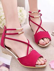 Sakura  Women's Shoes Black/Blue/Red Wedge Heel 0-3cm Sandals