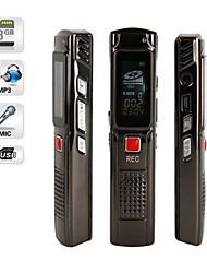 8gb plata 809 usb grabadora de voz digital con función de mp3 usb 2.0 de alta velocidad