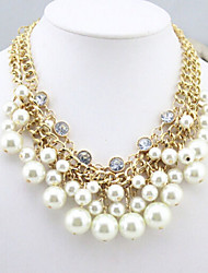 New Arrival Fashional Hot Selling Luxury Multilayer Crystal Pearl Necklace